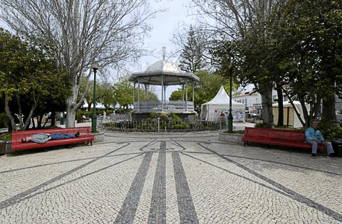 Praça da República, a nicely furnished urban park, Tavira, Portugal