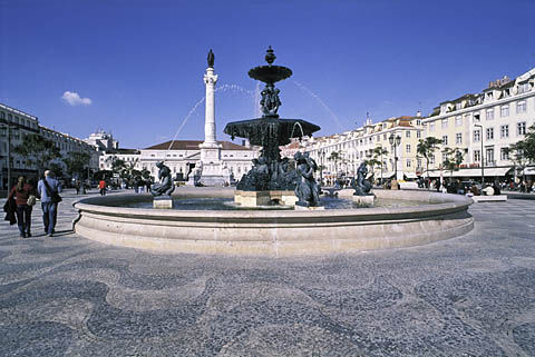 Fountain, Praça do Rossio, Lisbon